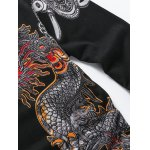 Dragon Chains Print Pullover Sweater for sale
