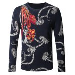 Chains Print Pullover Sweater