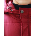 Hooded Thicken Zip Up Longline Padded Coat for sale