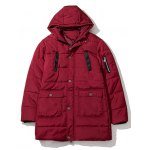 Hooded Thicken Zip Up Longline Padded Coat deal
