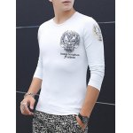 Slim Fit Totem Printed Round Neck T-Shirt deal