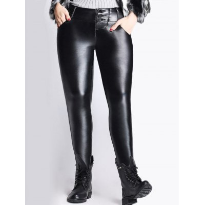 Thicken Skinny PU Pants
