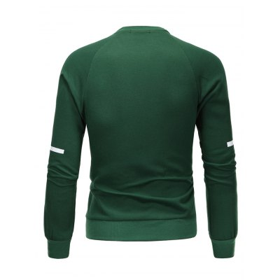 PU Spliced Cross Print Long Sleeve SweatshirtMens Hoodies &amp; Sweatshirts<br>PU Spliced Cross Print Long Sleeve Sweatshirt<br><br>Material: Cotton Blends<br>Clothing Length: Regular<br>Sleeve Length: Full<br>Style: Casual<br>Weight: 0.458kg<br>Package Contents: 1 x Sweatshirt
