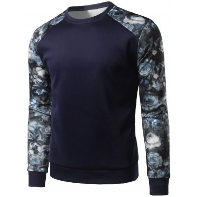 Floral Print Color Block Spliced Long Sleeve SweatshirtMens Hoodies &amp; Sweatshirts<br>Floral Print Color Block Spliced Long Sleeve Sweatshirt<br><br>Material: Cotton Blends<br>Clothing Length: Regular<br>Sleeve Length: Full<br>Style: Fashion<br>Weight: 0.300kg<br>Package Contents: 1 x Sweatshirt