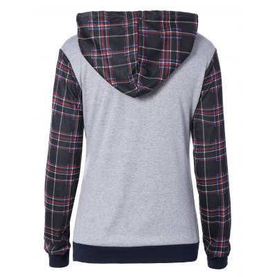 Plaid Pocket Embellished String HoodieSweatshirts &amp; Hoodies<br>Plaid Pocket Embellished String Hoodie<br><br>Material: Cotton Blend<br>Clothing Length: Regular<br>Sleeve Length: Full<br>Style: Casual<br>Pattern Style: Plaid<br>Season: Fall,Spring,Winter<br>Weight: 0.251kg<br>Package Contents: 1 x Hoodie