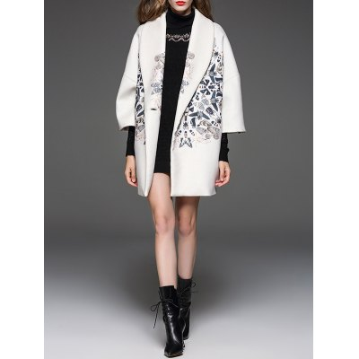 butterfly-pattern-shawl-collar-cocoon-coat