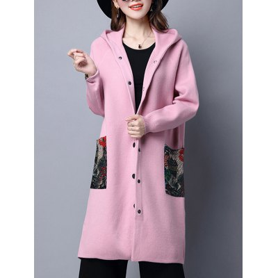 Hooded Long Coat with Pockets
