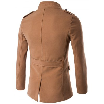 Plus Size Stand Collar Epaulet Single-Breasted Woolen CoatPlus Size Outerwear<br>Plus Size Stand Collar Epaulet Single-Breasted Woolen Coat<br><br>Clothes Type: Wool &amp; Blends<br>Style: Fashion<br>Material: Cotton,Wool<br>Collar: Stand Collar<br>Clothing Length: Long<br>Sleeve Length: Long Sleeves<br>Season: Winter<br>Weight: 0.850kg<br>Package Contents: 1 x Coat
