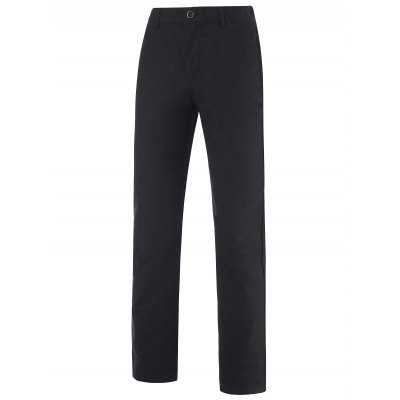 Patch Pocket Back Zipper Fly Mid-Rise Pants