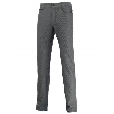 Zip Pocket Mid Rise Straight Casual Pants