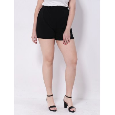 Wide-Leg Black High Waisted Shorts