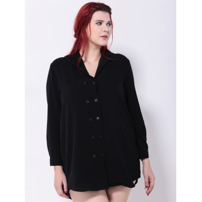 Double-Breasted Asymmetric Blouse