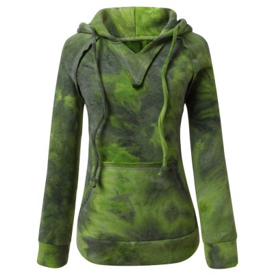 Ombre Topstitched Hoodie