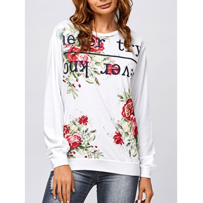 Letter and Rose Sweatshirt
