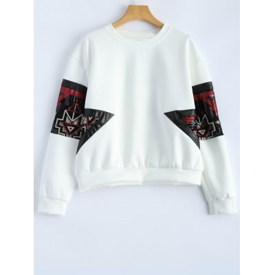 Patched Sequined Sweatshirt