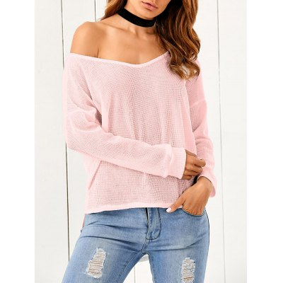 One-Shoulder Loose Sweater