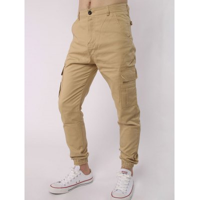 Multi Pocket Zipper Fly Beam Feet Jogger PantsPlus Size Bottoms<br>Multi Pocket Zipper Fly Beam Feet Jogger Pants<br><br>Style: Fashion<br>Pant Style: Jogger Pants<br>Pant Length: Long Pants<br>Material: Cotton,Polyester<br>Fit Type: Loose<br>Front Style: Flat<br>Closure Type: Zipper Fly<br>Waist Type: Mid<br>With Belt: No<br>Weight: 0.350kg<br>Package Contents: 1 x Pants