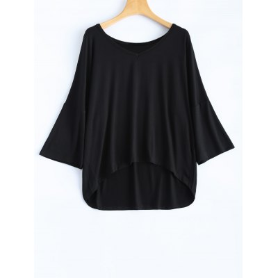 Loose High Low Blouse