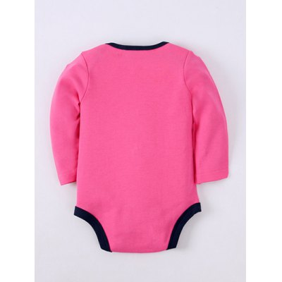 Long Sleeve Letter Embroidery Kids Baby Romper