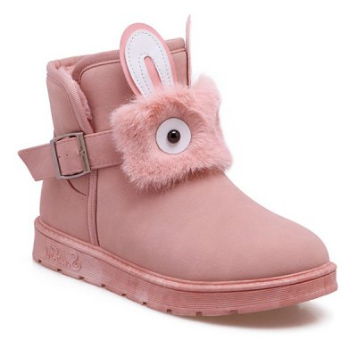 Buckle Strap Snow Boots