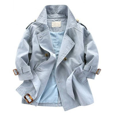 Lapel Single Breasted Trench Coat
