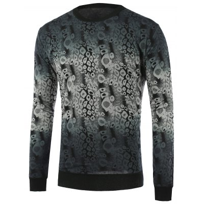 Abstract Pattern Ombre Knitwear