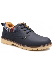Color Block Tie Up Casual Shoes