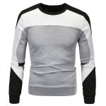Color Block Spliced Long Sleeve Sweatshirt