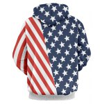 cheap Hooded Stripes and Stars Pattern Hoodie