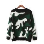 cheap Drop Shoulder Camouflage Pattern Sweater