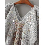Batwing Chunky Sweater with Sequin deal