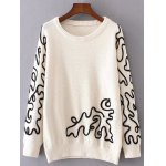 Crew Neck Jacquard Pullover Sweater