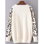 cheap Crew Neck Jacquard Pullover Sweater