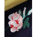 Turtleneck Rose Embroidered Pullover Knit Sweater for sale