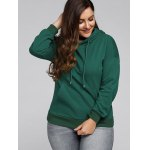 Plus Size Front Pocket Loose Hoodie deal