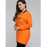 Plus Size Envy Letter Sweatshirt With Racerback Tank for sale