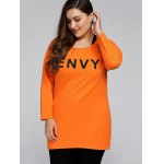 Plus Size Envy Letter Sweatshirt With Racerback Tank deal