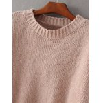 cheap Crew Neck Pullover Knit Sweater
