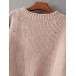 Crew Neck Pullover Knit Sweater for sale