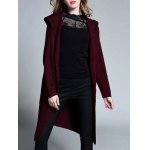 Plus Size Knitted Hooded Cardigan