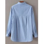 cheap Long Sleeve Embroidered Striped Shirt