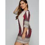 Plus Size Embroidered Geometric Print Dress deal