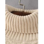 Cable Knit Turtleneck Sweater Dress deal