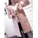 cheap Hooded Convertible Sueded Long Coat