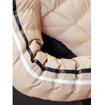 Stand Collar Zip-Up Colour Spliced Padded Jacket for sale