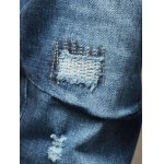 best Embroidery Zip Fly Distressed Jeans