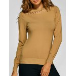 Ribbed Cut Out Slimming Knitwear