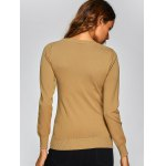 Ribbed Cut Out Slimming Knitwear deal