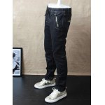 Slim-Fit Zipper Pocket Drawstring Waist Jeans deal
