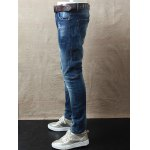 Skinny Zipper Fly Distressed Jeans deal
